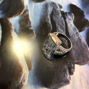 Big Emerald Cut Diamond Ring Size 7
